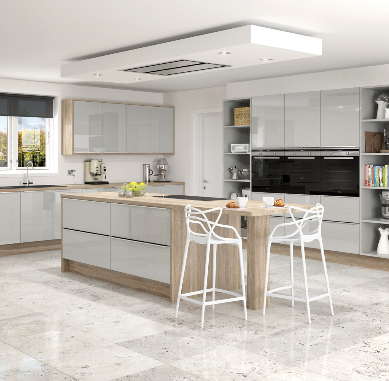 Mid range kitchens seamless interiors for Mid range kitchen cabinets